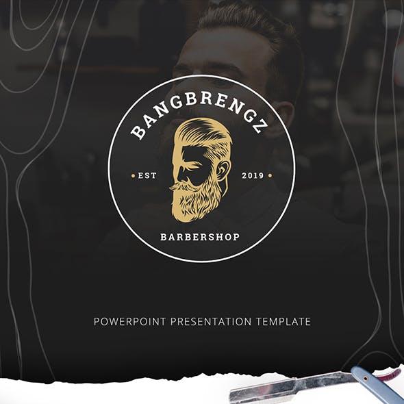 Bangbrengz Barbershop Powerpoint Presentation Template