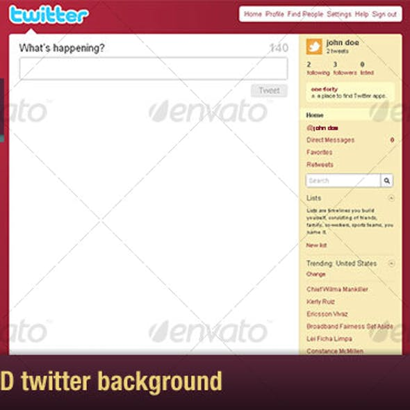 3D Twitter Background