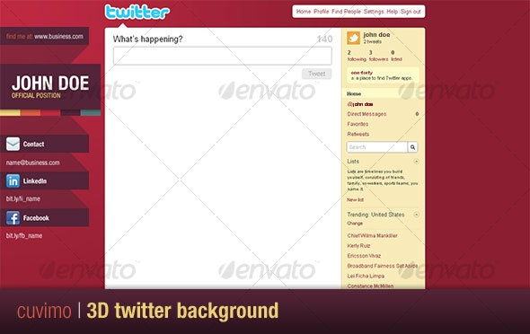 3D Twitter Background - Twitter Social Media