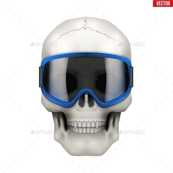Skull with Ski Goggles - Sports/Activity Conceptual