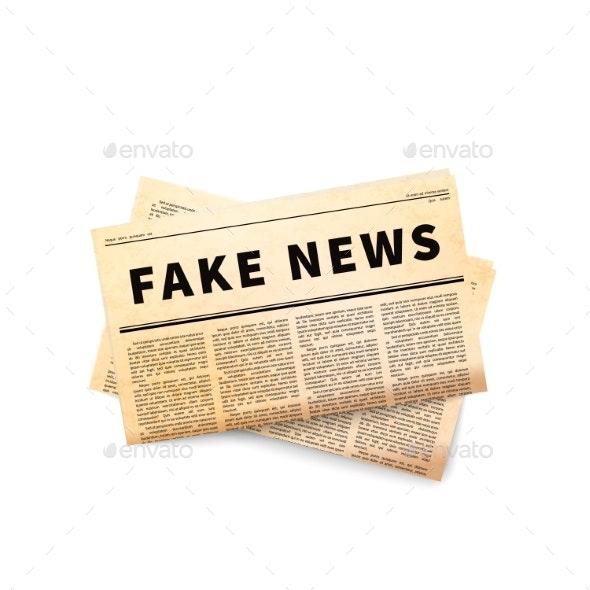 Fake News Header - Miscellaneous Vectors