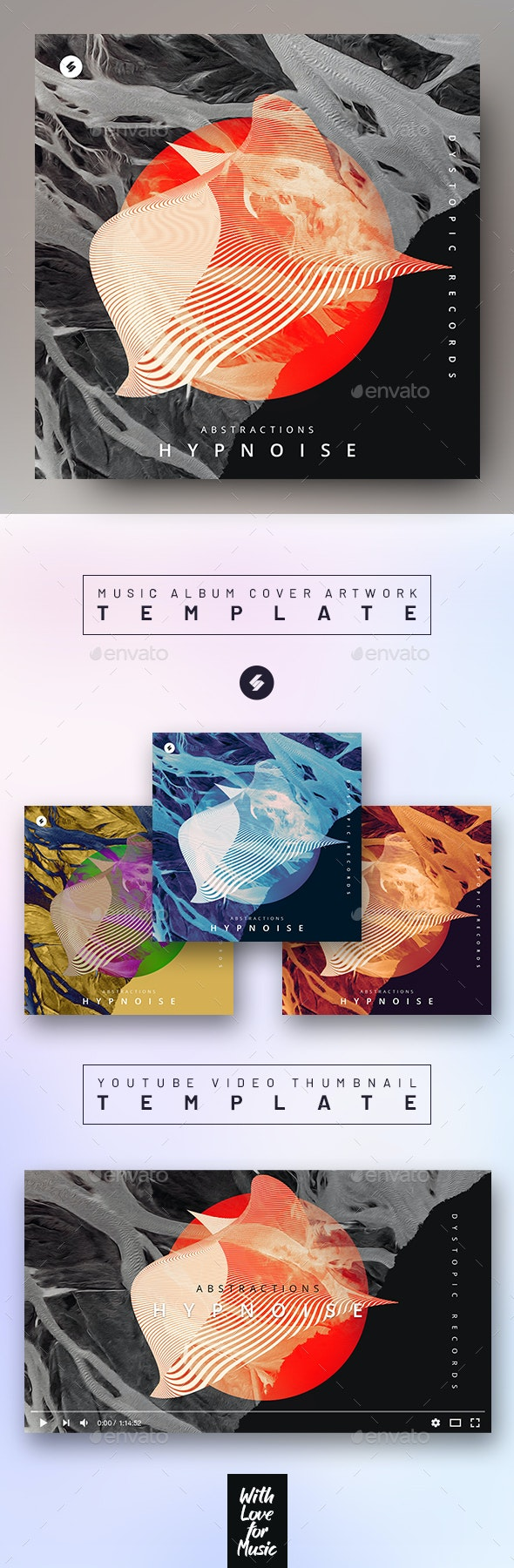Abstractions – Music Album Cover Artwork / Video Thumbnail Template - Miscellaneous Social Media