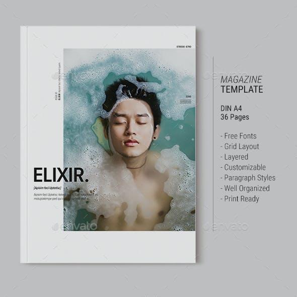 Magazine Template | Elixir