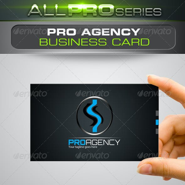 Pro Agency Business Card