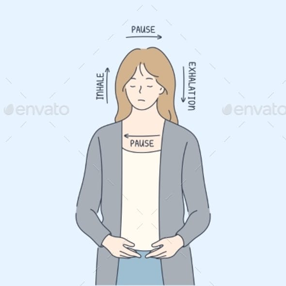 Meditation, Antistress, Square Breath, Health