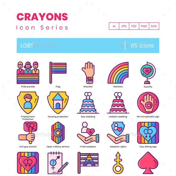 65 LGBT Icons - Crayons Series