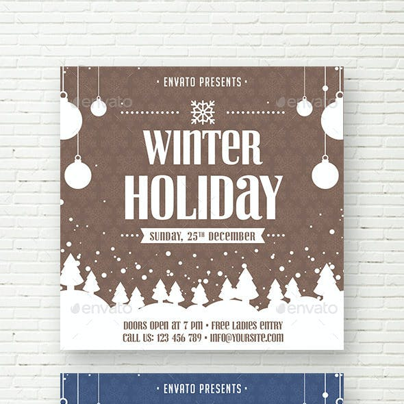 Winter Holiday Facebook Banner