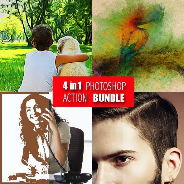 4in1 Photoshop Actions Bundle V8
