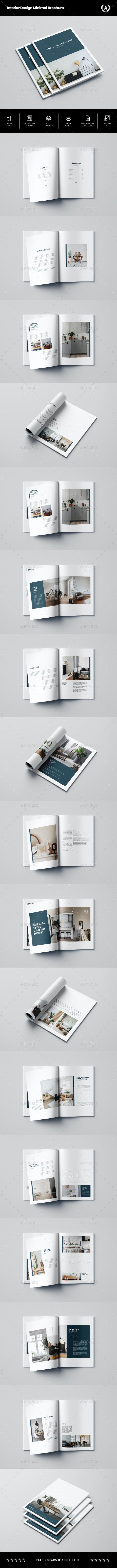 Interior Design Minimal Brochure - Brochures Print Templates
