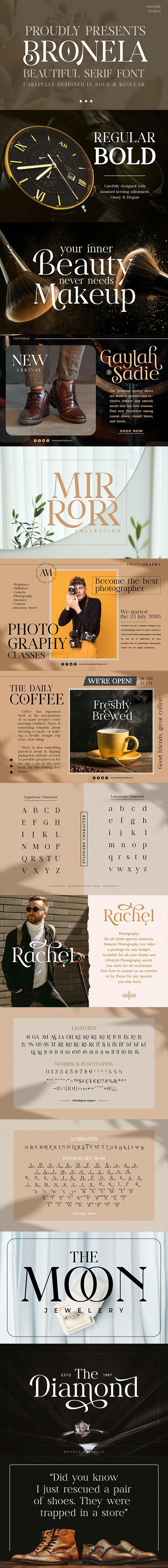Bronela - Fashionable Serif - Serif Fonts