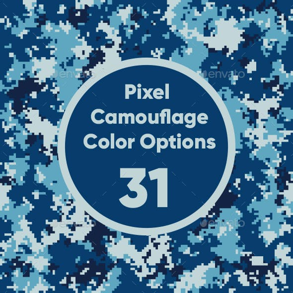 31 Pixel Camouflage Color Options