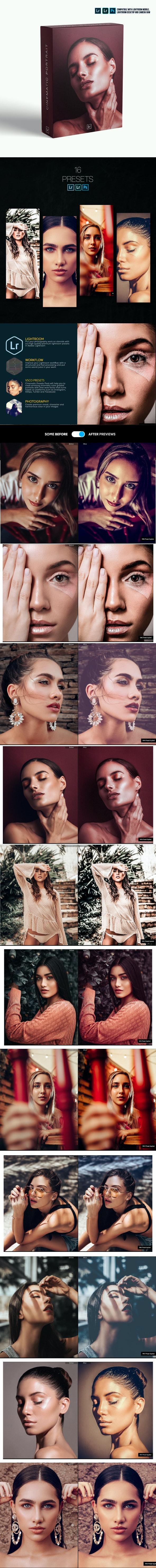Cinematic Portrait Lightroom Presets Mobile and Desktop - Lightroom Presets Add-ons