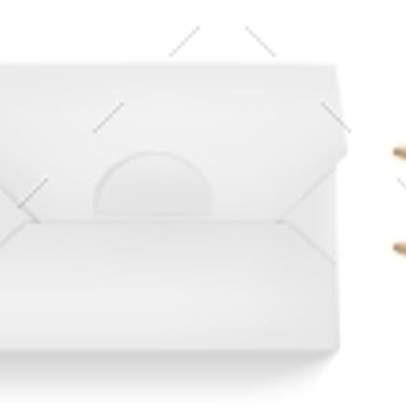 Vector Mockup of White Wok Box and Chopsticks