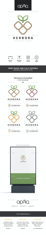 Square Nature Symbol Logo - Nature Logo Templates