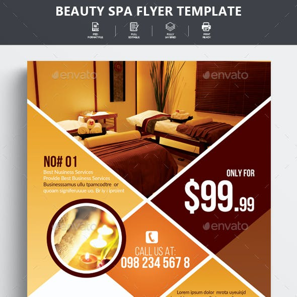 Beauty Spa & Massage Center Flyer