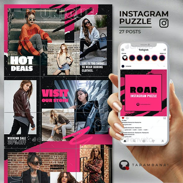 Roar - Instagram Puzzle Feed