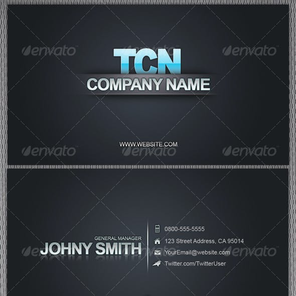 Business Card Reflection 4 variations