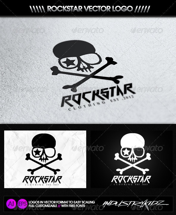 Rockstar Logo - Symbols Logo Templates
