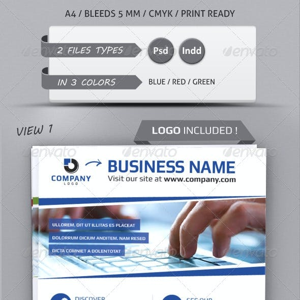 MODERN BUSINESS FLYER TEMPLATE A4