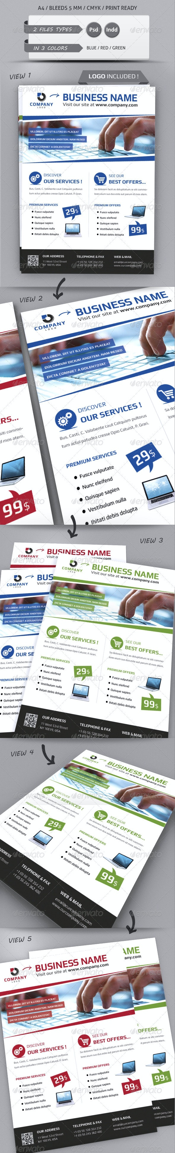 MODERN BUSINESS FLYER TEMPLATE A4 - Commerce Flyers