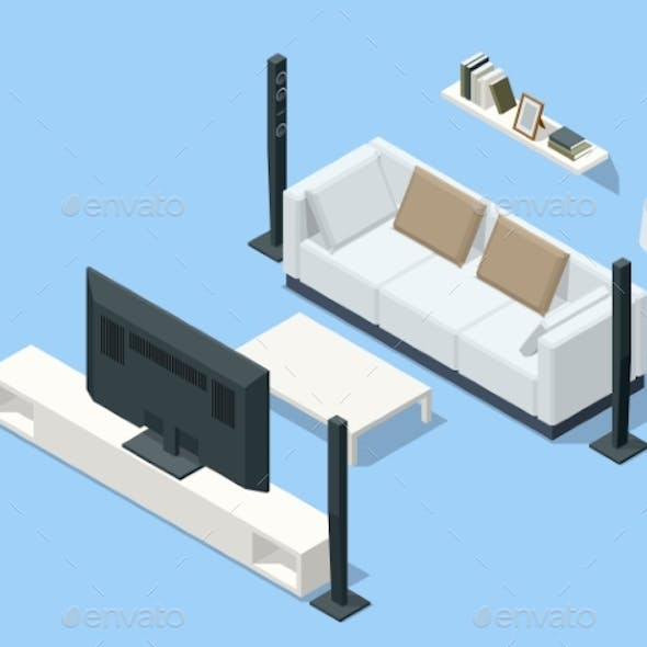 Isometric Home Theater