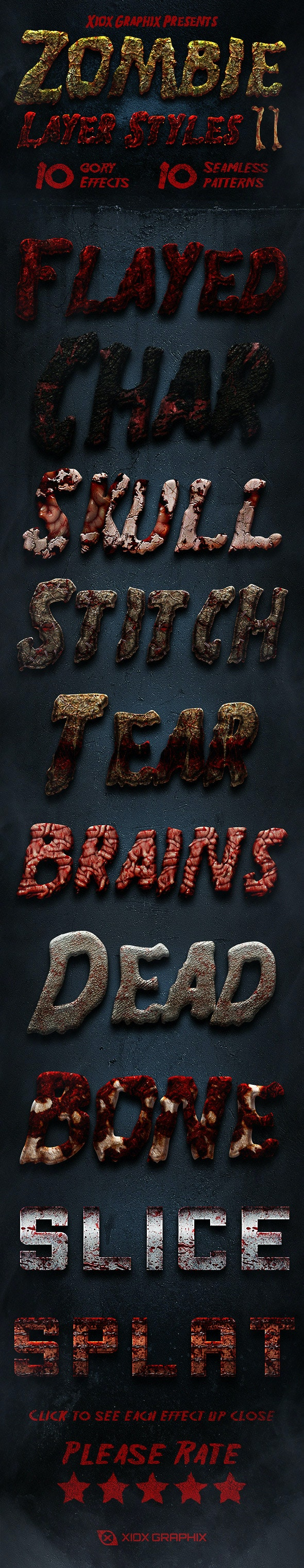 Zombie Layer Styles 2 - Text Effects Styles