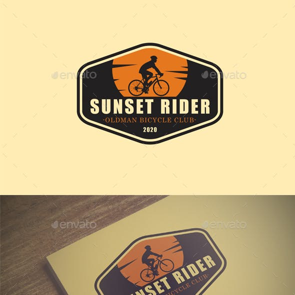 Sunset Rider - Bicycle Club Vintage Logo