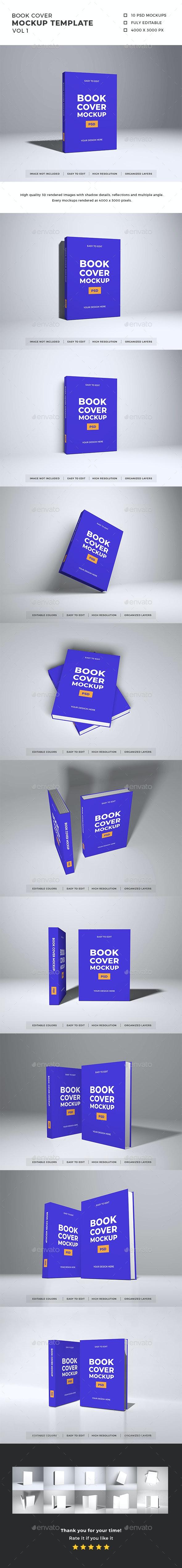 Book Cover Mockup Template Vol 1 - Books Print