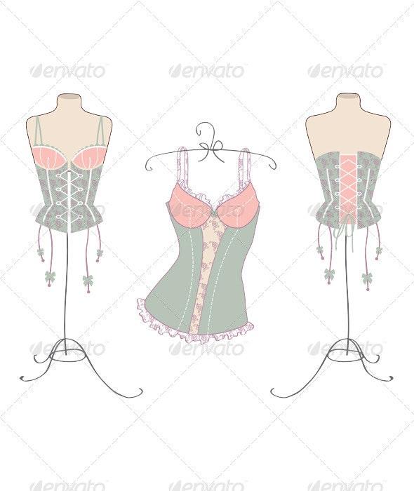 Variety of sexy vintage corsets  - Valentines Seasons/Holidays