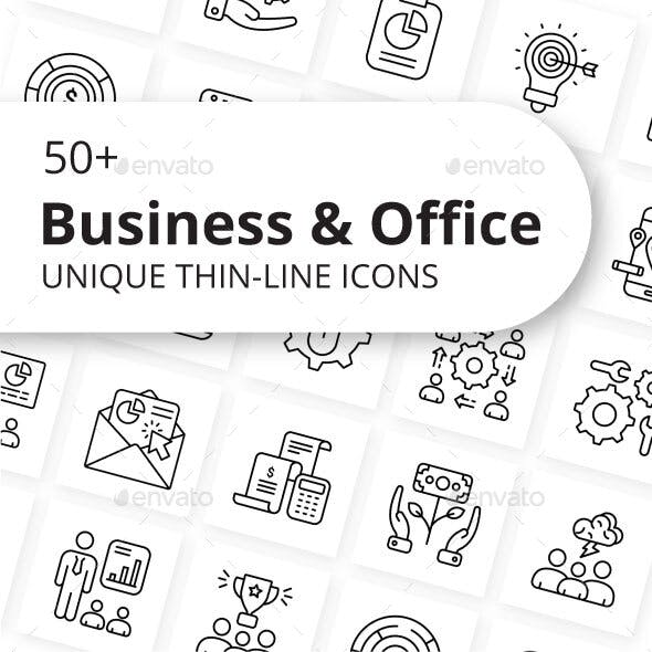 Business and Office Outline Icons