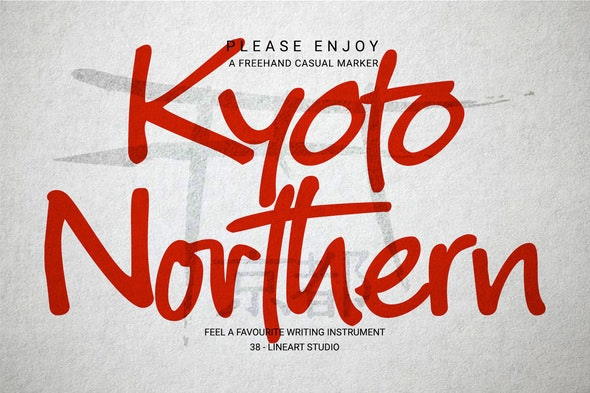 Kyoto Northern - Hand-writing Script