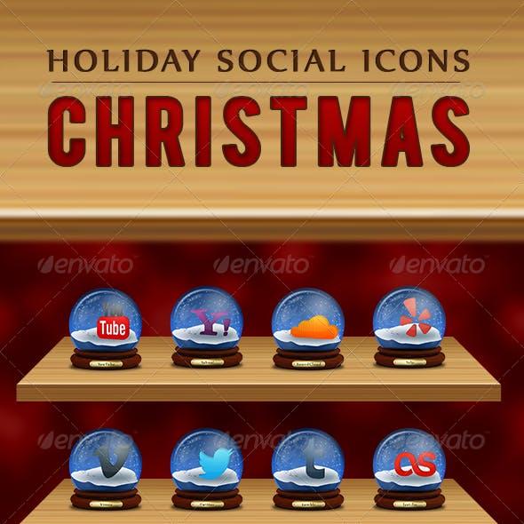 Christmas - Holiday Social Icons