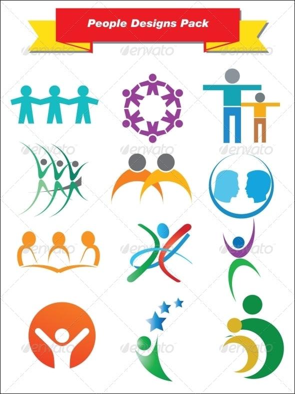 People Designs Pack - Decorative Symbols Decorative