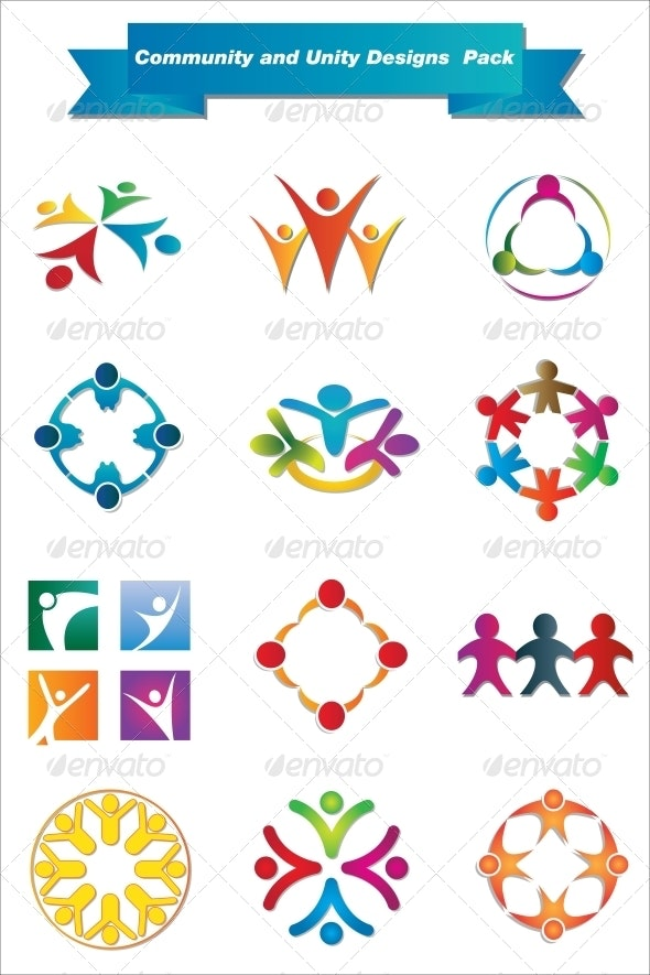 Community and Unity Designs Pack - Decorative Symbols Decorative