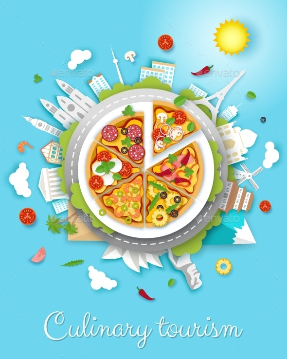 Culinary Tourism Vector Poster by siberianart | GraphicRiver