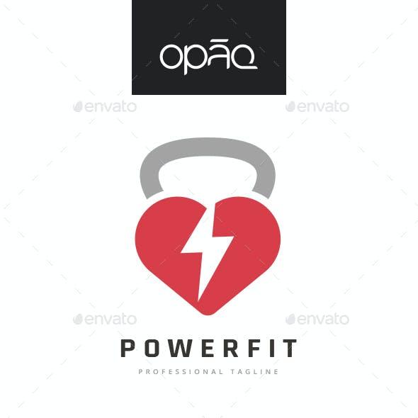 Heart Handle Weight Fitness Logo