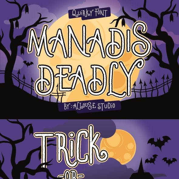 Manadis Deadly | Quirky Font