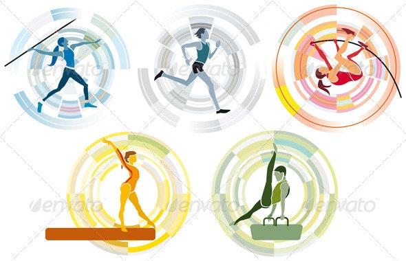 Five Sports Disciplines - Sports/Activity Conceptual