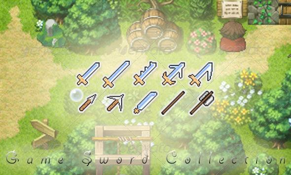 Game Artwork Swords - Objects Illustrations