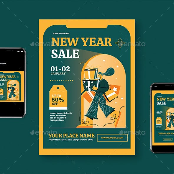 New Year Sale Flyer Pack