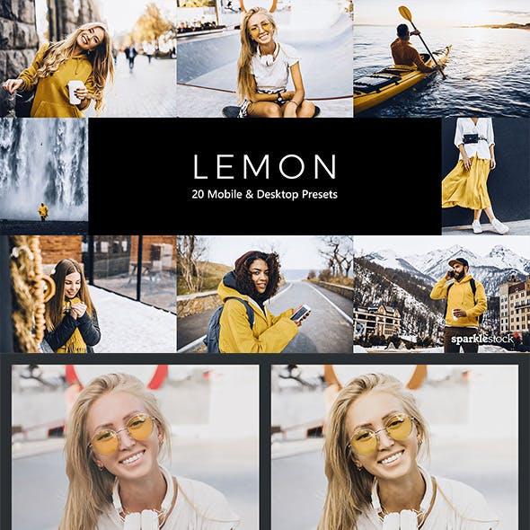 20 Lemon Lightroom Presets & LUTs