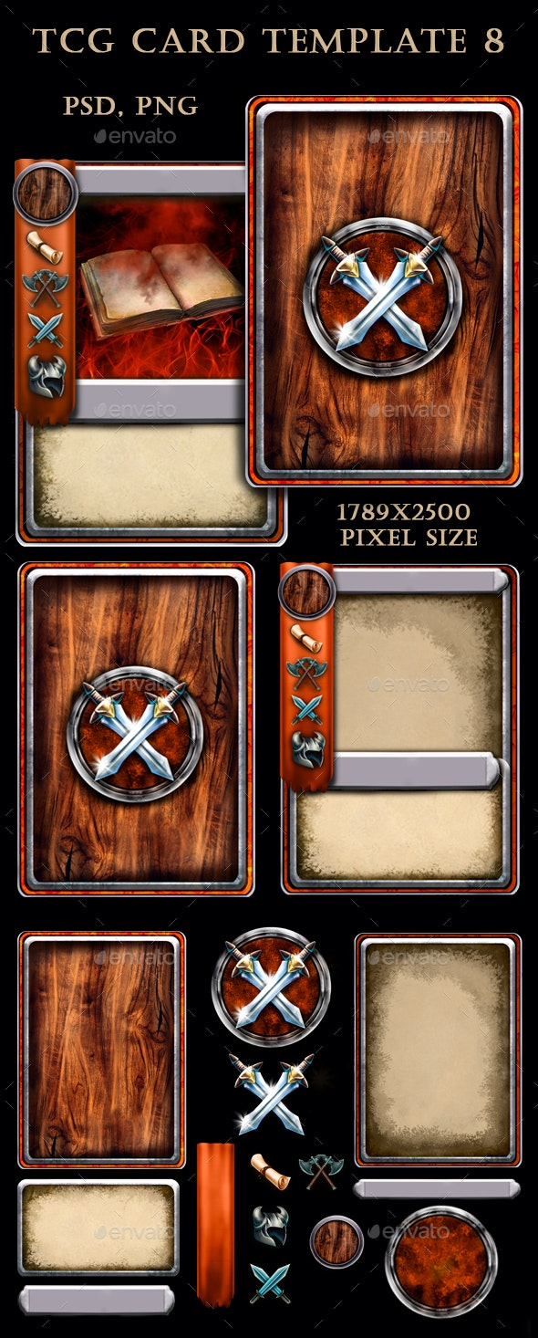 TCG Card Template 8 - Miscellaneous Game Assets