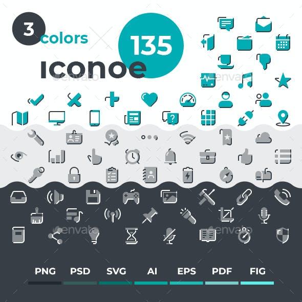 Iconoe - 135 DuoTone Icons