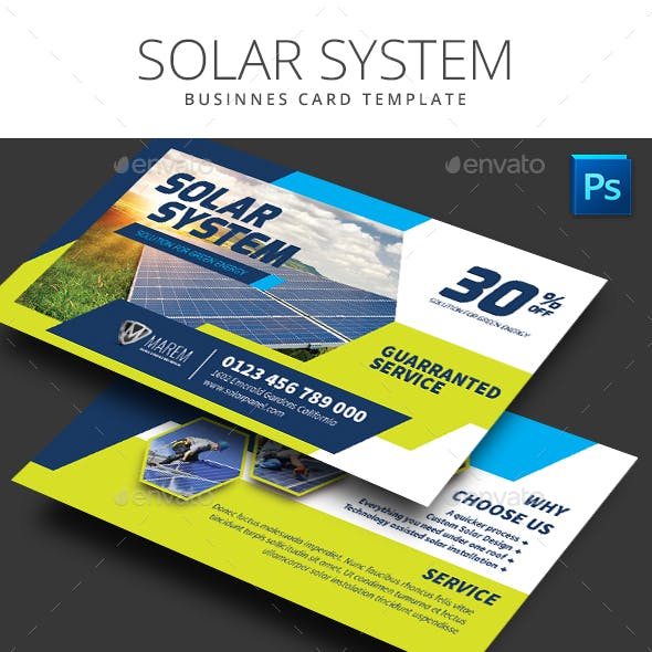 Solar System Business Card