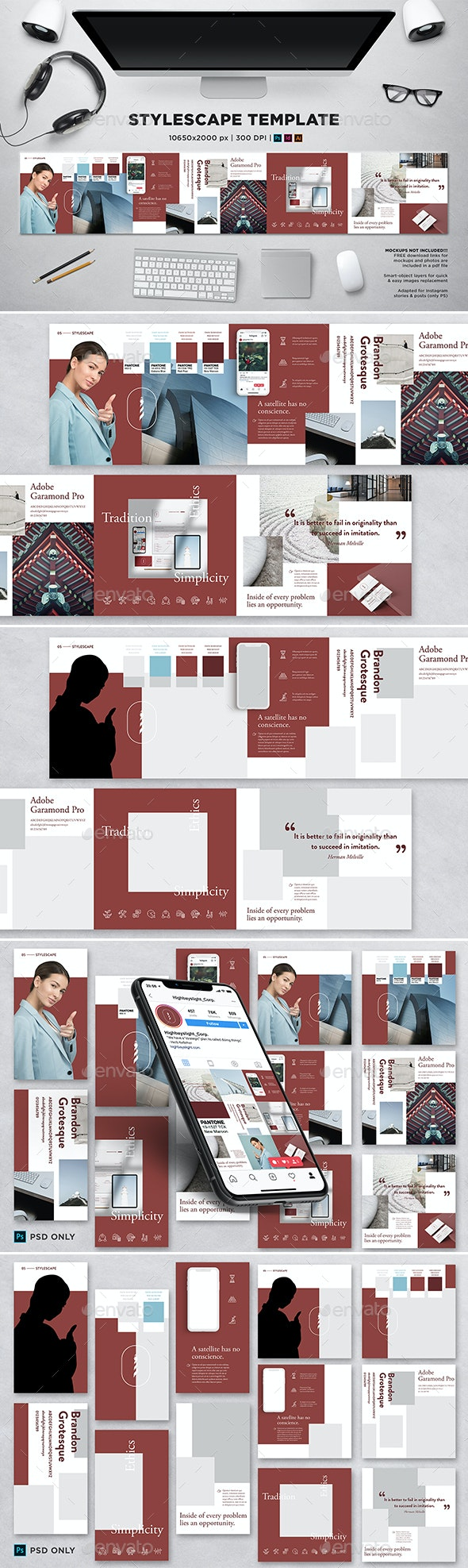 Stylescape / Moodboard Template 05 - Print Templates