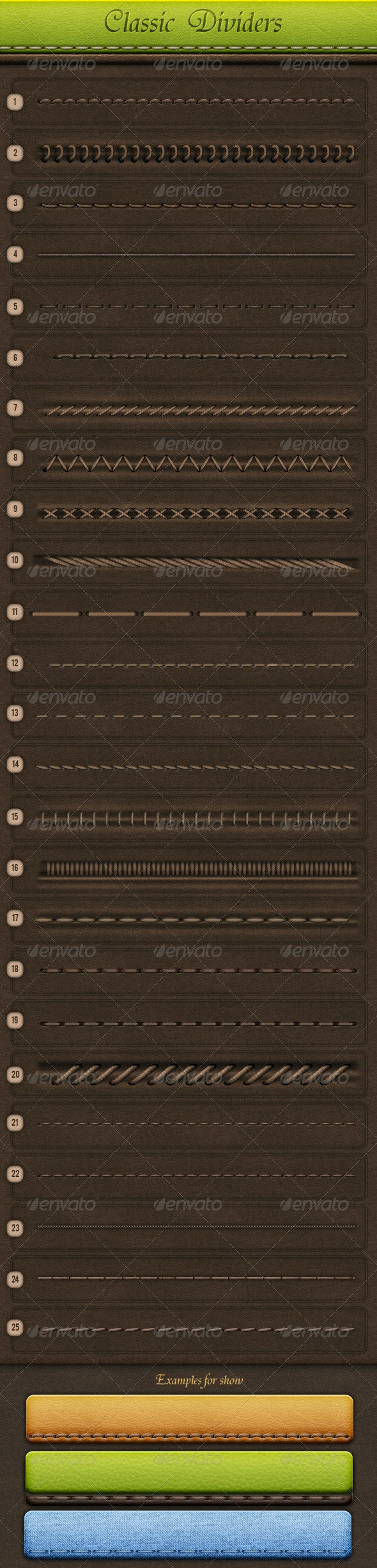 Classic Dividers - Miscellaneous Backgrounds