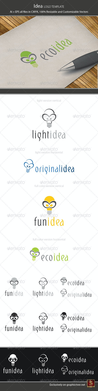 Idea Logo Template - Vector Abstract