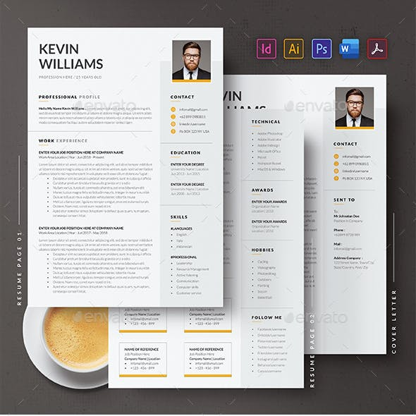 Professional CV or Resume Template