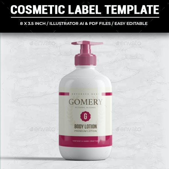 Premium Cosmetic Label Template