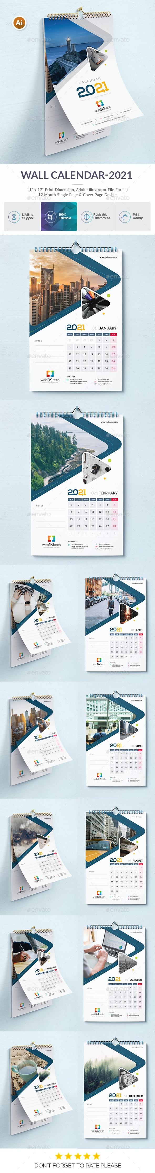 2021 Wall Calendar - Calendars Stationery